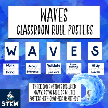 WAVES Classroom Rules Acronym for Beach Classroom