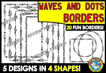 PAGE BORDERS (DOODLE BORDERS) BORDERS FOR PRINTABLES (SAVE MY INK BORDERS)