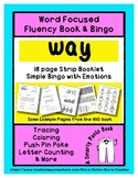 WAY - Word Fluency Book & Emotion Bingo - Sight Word Focus