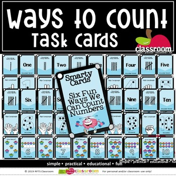 WAYS TO COUNT TO TEN - SMARTY TASK CARDS