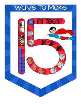 WAYS TO MAKE A NUMBER POSTERS Superhero