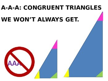 WAYS TO PROVE TRIANGLES CONGRUENT SONG