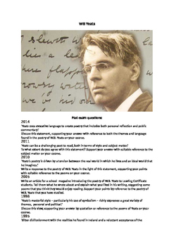 WB Yeats Study Booklet