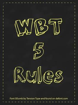 WBT 5 Rules Chalkboard