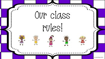 WBT Class Rule Posters Checkerboard Style