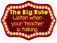 WBT Classroom Rules Poster-Hollywood Themed