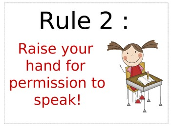 WBT Classroom Rules Posters