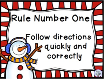 WBT Classroom Rules Posters - Seasons theme