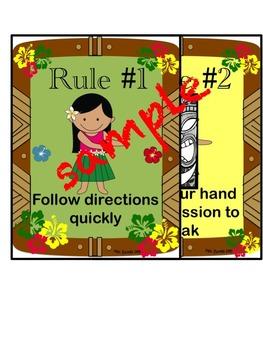 Classroom Rules: WBT Hawaiian Theme