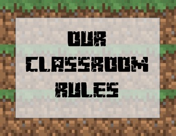 WBT Minecraft Themed Classroom Rules Posters-FREE