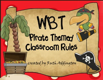 WBT Pirate Themed Classroom Rules