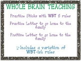 WBT Practice Cards and Letters Home