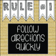 WBT Rules - Black and Gold - FREE