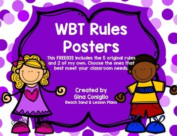 WBT Rules Posters FREEBIE