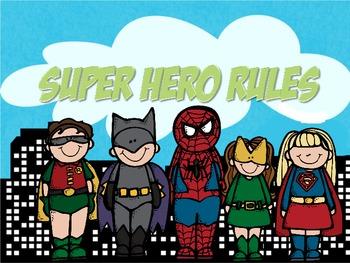 WBT Rules: Super Hero Theme