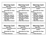 WBT Rules Warning Card