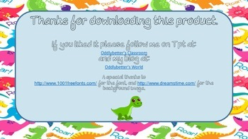 WBT Scoreboard- Dinosaur Themed