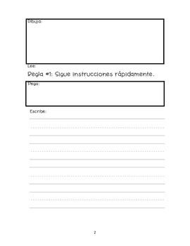 WBT Student Rule Book in Spanish