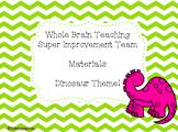 WBT Super Improvement Wall Dinosaur Theme