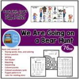 WE ARE GOING ON A BEAR HUNT BOOK UNIT, CRAFT & TEACHER PUPPET STICKS