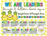 WE ARE LEADERS BULLETIN BOARD AND SUBJECT LEADERSHIP QUOTE SIGNS