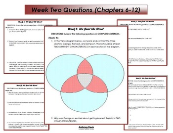 WE BEAT THE STREET Chapters Comprehension Questions (20 PAGES)
