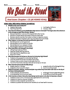 WE BEAT THE STREET Comprehensive Final Exam: Chapters 1-22