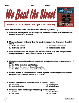 WE BEAT THE STREET Midterm Exam: Chapters 1-12