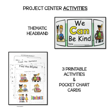 WE CAN BE KIND AT SCHOOL EMERGENT READER FOCUS WORD CAN