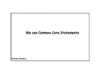 WE Can Common Core 2nd grade statements