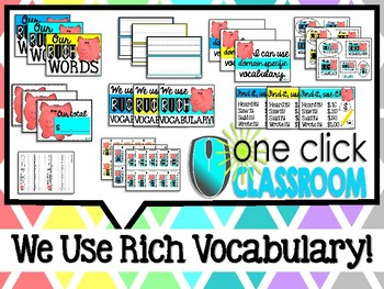 WE USE RICH LANGUAGE!  Flexible Vocabulary System