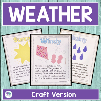 WEATHER ACTIVITIES FOR KINDERGARTEN AND FIRST GRADE