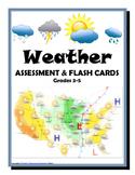 WEATHER Assessment (Quiz, Test) & Flash Cards