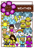 WEATHER Digital Clipart (color and black&white)