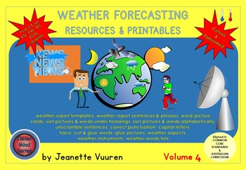 WEATHER FORECASTING - RESOURCES & PRINTABLES (VOLUME 4) by