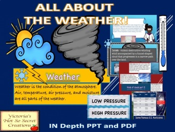 WEATHER (IN DEPTH) POWERPOINT AND PDF
