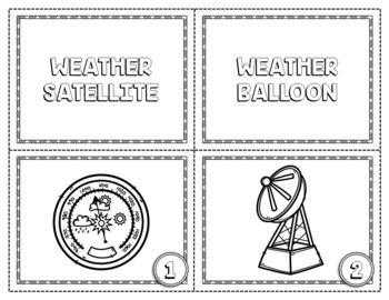WEATHER INSTRUMENTS CARD SORT, VOCABULARY ACTIVITY, WORD WALL