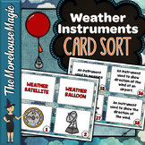 Weather Instruments Science Card Sort, Vocabulary Activity, Word Wall