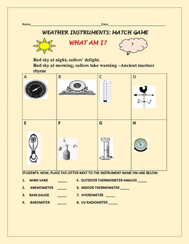 WEATHER INSTRUMENTS QUIZ