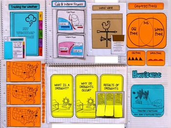WEATHER Interactive Notebook - Fronts, Air Pressure, Tools, Predicting, Climate