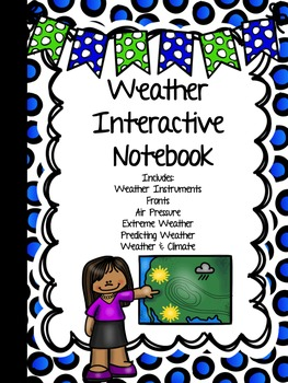 WEATHER Interactive Notebook - Fronts, Air Pressure, Tools