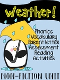 WEATHER NONFICTION READING, PHONICS, AND VOCABULARY UNIT