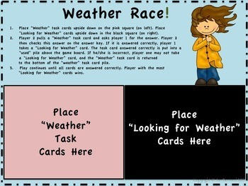 Weather Science Task Cards and More