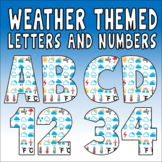 WEATHER SYMBOLS LETTERS NUMBERS TEACHING RESOURCES DISPLAY SCIENCE GEOGRAPHY