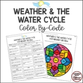 WEATHER & THE WATER CYCLE Color-By-Code Vocabulary Review