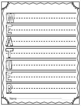 WEATHER UNIT with Lesson Plans and Interactive Activities