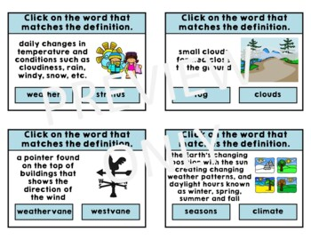 WEATHER SEASONS and CLIMATE Activities Bundle