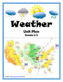 WEATHER Unit Plan (Hands-On, Inquiry, Experiments, Assess, Foldables, WebQuest)