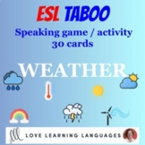 WEATHER Vocabulary - ESL - ELL Taboo Speaking Game