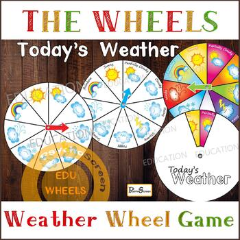 WEATHER WHEEL, Today's Weather circles and cards, Printable preschool set